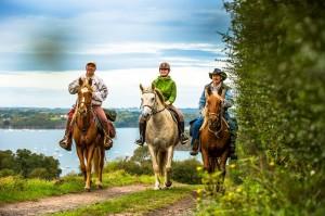 Balade a cheval depuis le Mont Garrot, vue sur le fleuve Rance